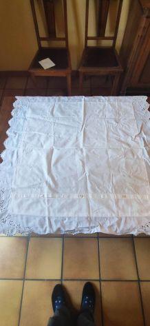taie d'oreiller ancienne coton blanc dentelle