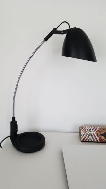Lampe de bureau noire vintage Veneta Lumi