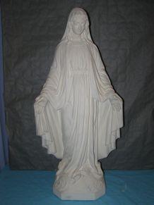 Ancienne statue en plâtre (Sculpteur Pieraccini), H 87cm