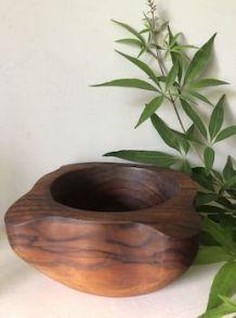 Grand mortier en bois d'olivier