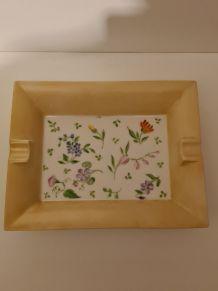 Vide Poche cendrier en Porcelaine de Limoges décor Floral