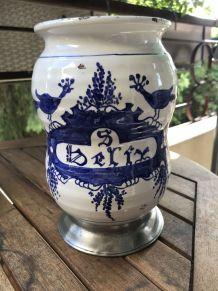 Pot Style Apothicaire Céramique & Etain