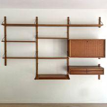 Étagère modulable design Poul Cadovius 1960