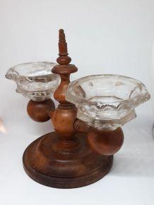 Ancienne salière poivrière de collection en bois