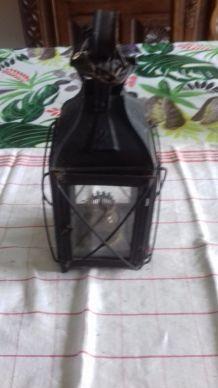 lanterne de chef de gare   métal fin 19e vitrée