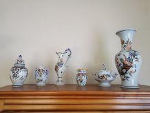 Lots de pots et vases Vieux Rouen