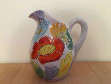 Vase Pichet Vintage Céramique Multicolore