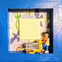Cadre Playmobil courses bloc post-it listes
