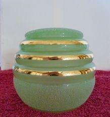 Ancienne TULIPE de lampe vintage 50 globe en VERRE