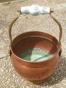 jardinière , cache pot  en cuivre , vintage