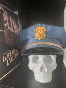 Casquette originale Police 1960 TEXAS USA avec badge