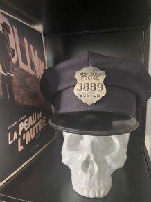 Véritable Casquette de Police BOSTON USA 1950 avec badge