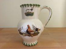 Vase/Pichet Vintage en Faïence de Roanne