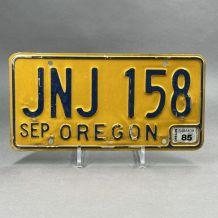 Plaque d'immatriculation USA Oregon