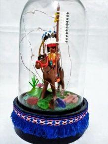 Lampe Playmobil veilleuse indien, cloche en verre