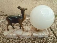 lampe a poser sur socle marbre ,vintage