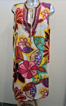 Tunique / Robe Goa avec Col Perlé