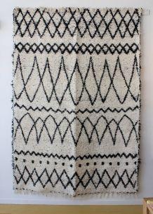 Tapis - 170 x 240 cm - Noir et blanc - Reversible