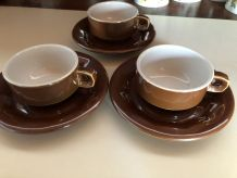 3 tasses à café style bar