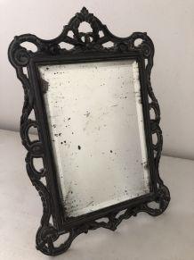 Miroir de table, verre biseauté