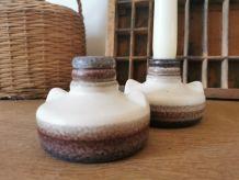 Bougeoirs en céramique