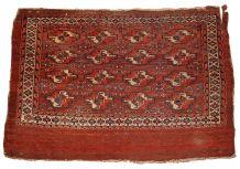 Tapis ancien Turkmène Yomud fait main, 1B320