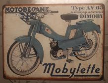 Plaque métal vintage Motobecane AV65