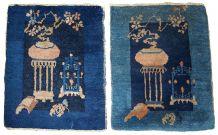 Tapis ancien Chinois Peking fait main, 1B327