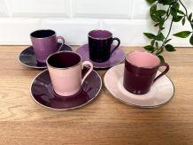 Set de 4 tasses et sous-tasses Deshoulières