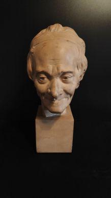 buste de Voltaire en plâtre