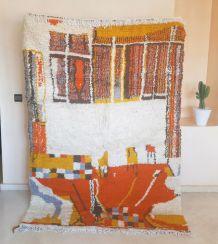 222x152cm Tapis berbere marocain