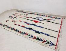 224x137cm Tapis berbere marocain