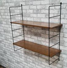 Etagere  design a.dekker 1960 a 70   en bois stratifié  72x7