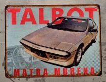 Plaque métal Talbot Matra Murena