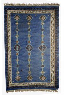 Tapis ancien Indien Dhurri fait main, 1B533
