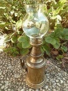 Lampe  Pigeon veritable , vintage