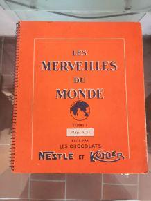 Ancien album images tablettes de chocolat