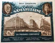 """"""" Grands Magasins LA SAMARITAINE """" - Affiche illustrée -Vilà"""