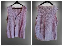 ✅ Gilet Vintage au Crochet Fait Main