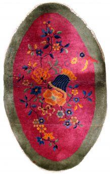 Tapis ancien Chinois Art Deco fait main, 1B634