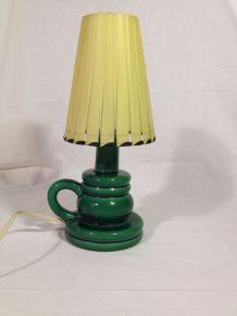 Lampe céramique émaillée années 50
