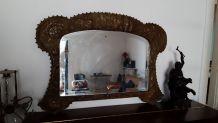 Miroir laiton repoussé