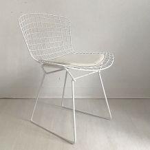 Chaise wire en métal de Harry Bertoia vintage 60's