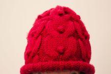 Bonnet rouge en laine