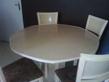 Ensemble table + buffet + miroir