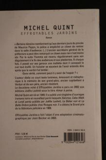 Effroyables jardins de Michel Quint