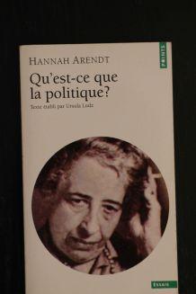 Qu'est-ce que la politique ? Hannah Arendt