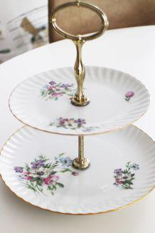Plateau porcelaine vintage