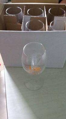 Boîte de 6 verres à vin