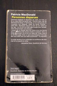 """Roman d'occasion """"Personnes disparues"""" de Patricia Macdonald"""